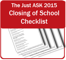 Closing of School Checklist