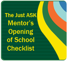 Mentors Opening of School Checklist